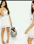 asos sukienka koronka biała lato xs s