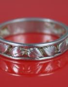 Pierścionek obrączka liście srebro 1 Warmet Agat