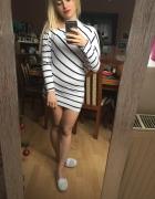 tunika sukienka w paski nietopierz...