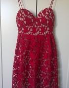 Czerwona koronkowa sukienka M...