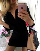 TALIOWANA CUDNA czarna sukienka łancuszek LATO NEW