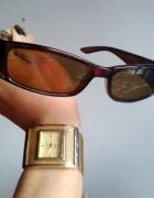 okulary pilotki przeciwsłoneczne brązowe