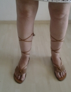 Nowe buty rzymianki sandałki skóra naturalna brązowe roz 39...