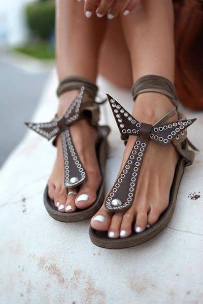 Sandałki w stylu Isabell Marant