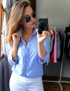Koszula w paski niebieska