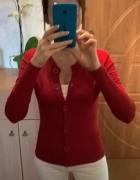 Czerwony sweter na guziki M