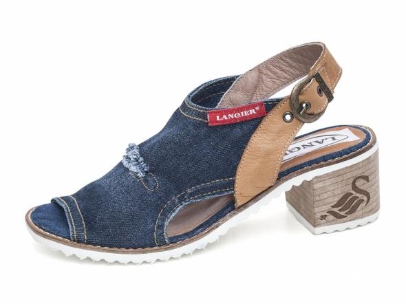 Sandały jeansowe damskie Lanqier 42C131...