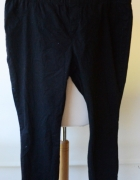 Spodnie Tregginsy Czarne C&A Rurki 48 XXXXL Czerń