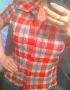 Czerwona koszula w kratkę Orsay rozm 40
