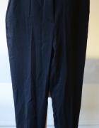 Spodnie Czarne Wełniane H&M S 36 Eleganckie Guziki...