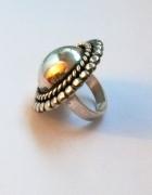 Navajo duży pierścień 13g srebro 925