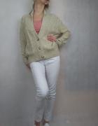 Śliczny beżowy sweter kardigan zapinany na guziki New Look