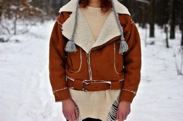 Odzież wierzchnia Nowa kurtka kożuch na zime M