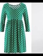Zielona w białe groszkidziewczęca sukienka2 rozm