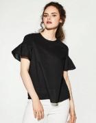 nowa bluzka z rękawem w kształcie falbany