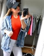 kurtka jeansowa dłuższa