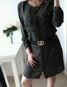 Sukienka atmosphere khaki koszulowa elegancka XL