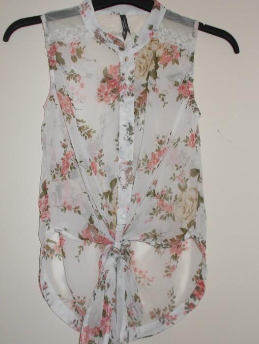 koszula mgiełka Influence kwiaty floral koronkowa