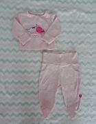 Komplet różowy kaftanik bluzeczka spodnie śpiochy półśpiochy legginsy Cool Club Smyk 62