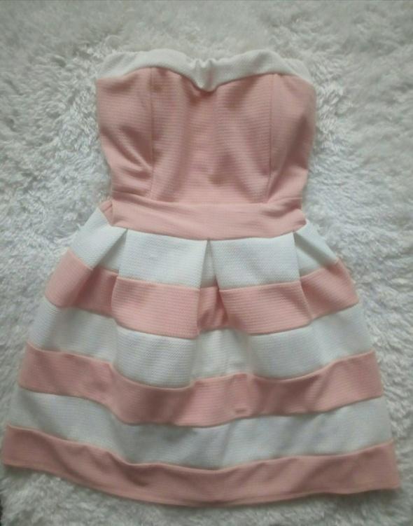 Śliczna sukienka nowa paski XS S