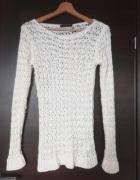 atmosphere sweterek ażur boho hippie sweter ażurkowy bez wad xs...