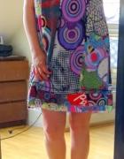 sukienka ala desigual letnia wiązana kolia ciążowa...