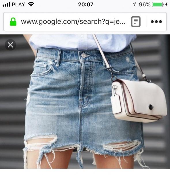 Szukam jeansowej spódnicy...