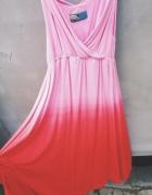 różowa cieniowana sukienka Yups M...