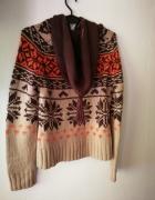 Sweter w norweski wzór