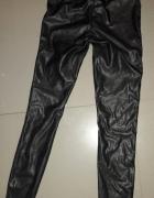 Spodnie tregginsy skóra M zip...