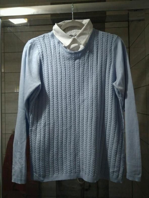 Swetry pastelowy z kolnierzykiem