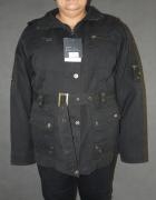 Nowa czarna kurtka z odpinanym kapturem rozm 56...
