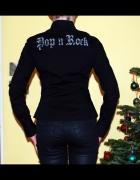 Czarna koszula rock napis goth klasyczna XS S Terr