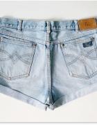 Jasne szorty Wysoki Stan 38 M Blogerskie jeansowe spodenki levis