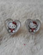 Kolczyki serduszka Hello Kitty wybór zapięcia...