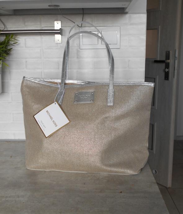 778786c6a6205 Torebki na co dzień Michael Kors nowa torba shopper srebrna xxl plażowa