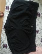 Czarne bawełniane szorty
