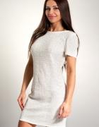 Sukienka dopasowana cekinowa włoska