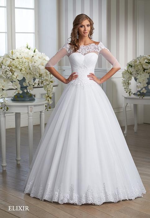 Suknia ślubna z gipiura księżniczka Elixir 2016