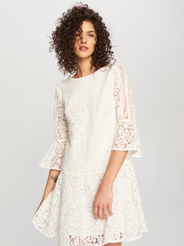 Suknie i sukienki reserved koronkowa sukienka