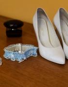 Buty ślubne szpilki 37 skórzane obcas 9cm Anis Visione