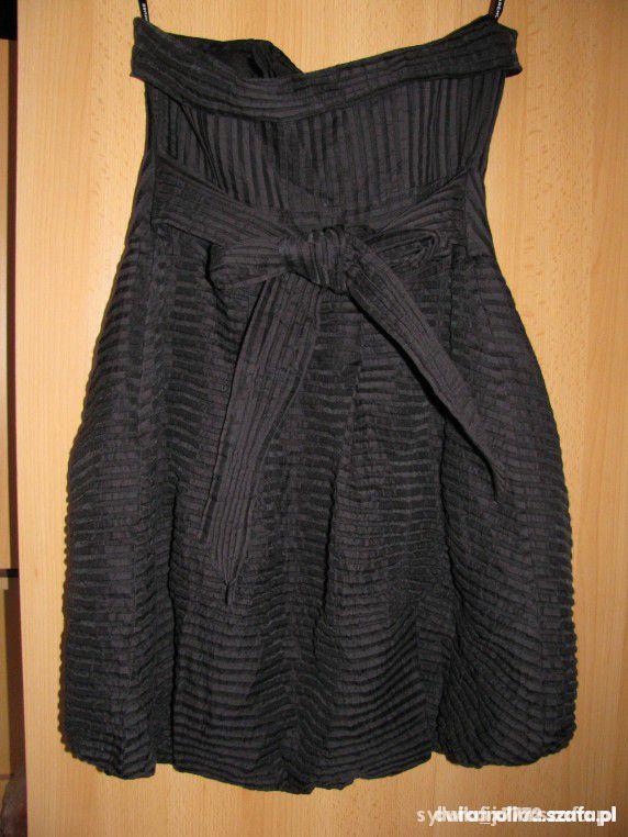 Czarna sukienka TULIPAN bombka r38...
