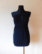 New Look czarna mini sukienka na lato 38 30