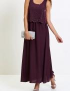 Sukienka na każdą okazję zdobiona z przodu perełkami