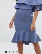 sukienka hiszpanka bardot falbana midi Asos