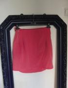 Koralowa spódnica H&M marynarski pasek
