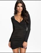 czarna sukienka nelly nly one kopertowa elastyczna