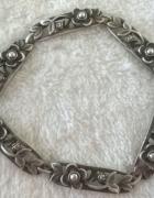 Srebrna bransoletka niezapominajki warmet