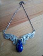 Srebrny naszyjnik filigran z lapis lazuli