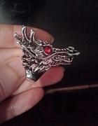 pierścień dragon gothic rock